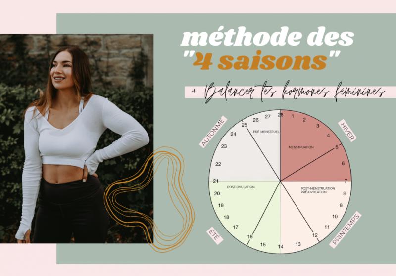 LES 4 « SAISONS » DE TON CYCLE FÉMININ (+ COMMENT MANGER ET T'ENTRAÎNER DURANT CHAQUE PHASE)
