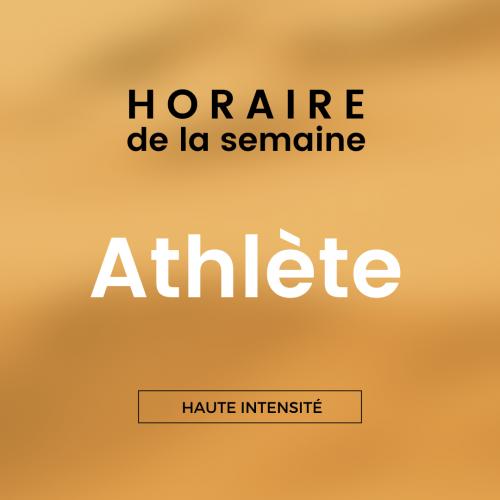 "Horaire hebdomadaire ""Athlète"""